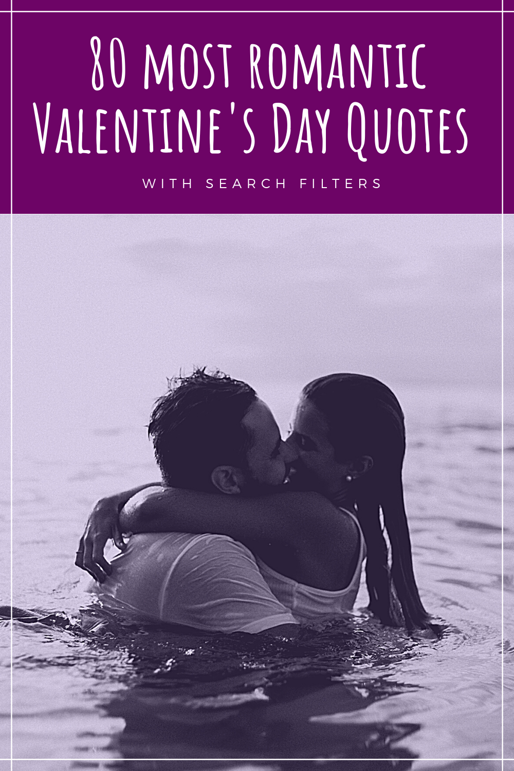 Image of sensual couple kissing in the water